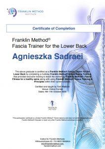Agnieszka Sadraei - certyfikat